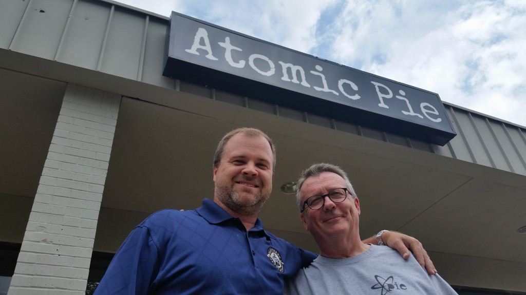 Tom Goodale, left, and Tim Cole have launched the only beer, wine and liquor-selling pizza joint in Dallas' 75238 zip code.